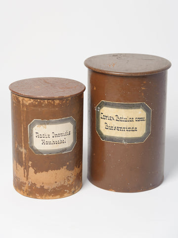 Antique Apothecary Herbalist Pots