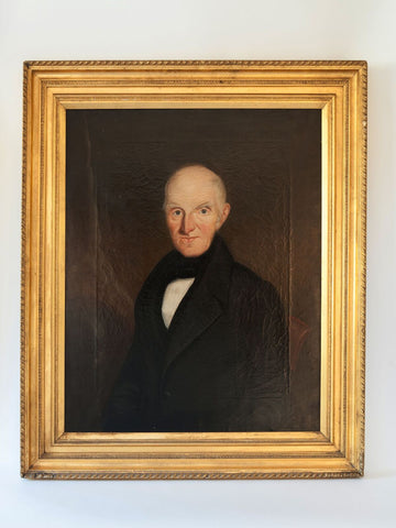 Antique 19th Century Oil Painting Of an Irish Gentleman
