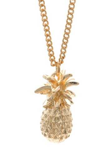 GOLD COLOURED PINEAPPLE NECKLACE