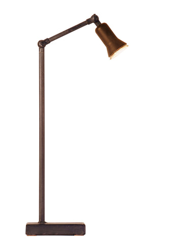 Frezoli led table lamp with copper shade