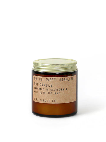 P.F. Candle Co Sweet Grapefruit candles in 3.5 oz and 7.2 oz