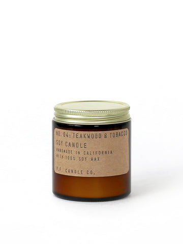 P.F. Candle Co Teakwood and Tobacco Jar candles 3.5 oz and 7.2 oz