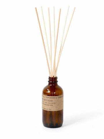 PF Candle Co Reed diffuser in Teakwood and Tobacco 3oz