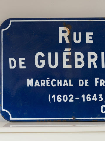 Large Original Vintage French Enamel Road Signs - Decorative Antiques UK  - 1