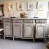 A late 19th-Centry French Enfilade, later painted in grey - Decorative Antiques UK  - 3