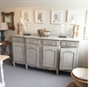 A late 19th-Centry French Enfilade, later painted in grey - Decorative Antiques UK  - 6