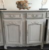 A late 19th-Centry French Enfilade, later painted in grey - Decorative Antiques UK  - 4