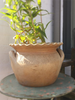 Vintage French Provencal Fluted Stoneware Pot - Decorative Antiques UK  - 3