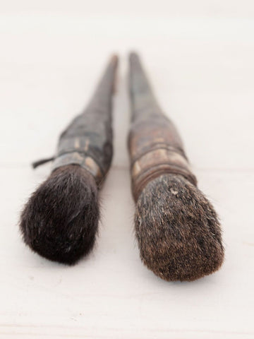Amazing Pair Antique Artist Brushes