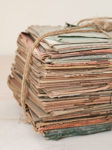 Set Vintage French Exercise books bound with twine - Decorative Antiques UK  - 1