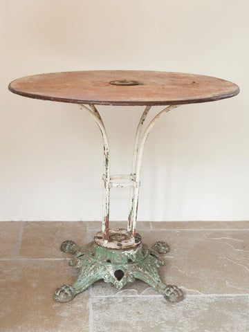 Antique French Brasserie Table