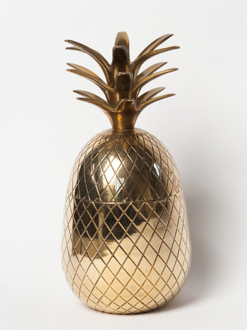 Gorgeous Mid Century Brass Pineapple Ice Bucket