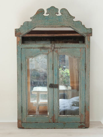 Indian Glazed Wall Cabinet