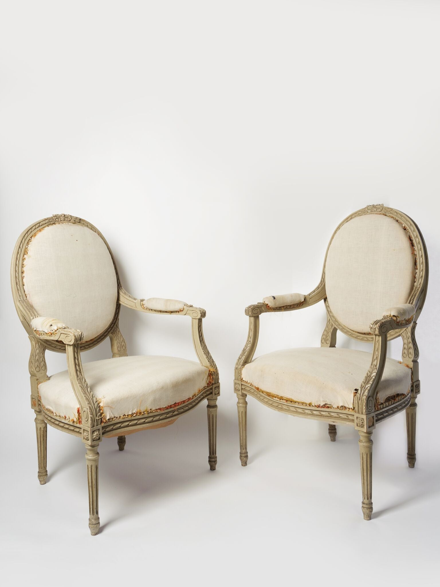 Great PAIR BEAUTIFUL ANTIQUE FRENCH LOUIS XVI CHAIRS ...