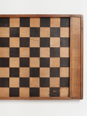 Antique French Checkers Board, circa 1860's