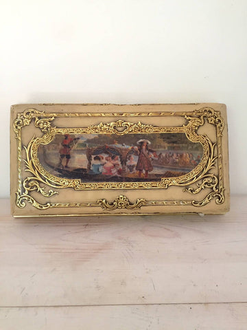 Vintage French Paper and Card Chocolate Box