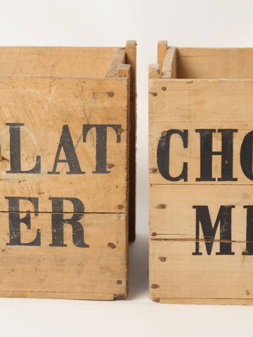 Antique French Chocolat Menier Crates