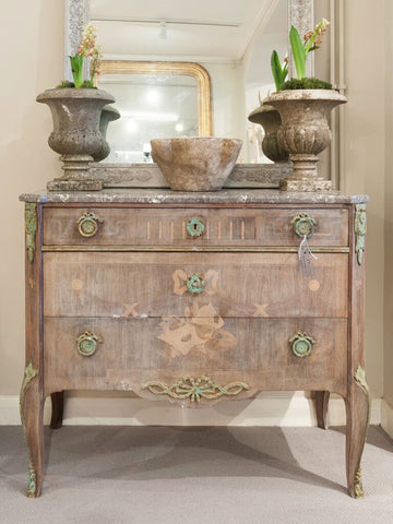 Stunning 19th Century Swedish Marble top commode - Decorative Antiques UK  - 1