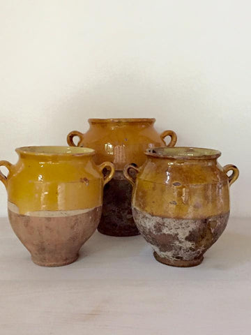 Collection Antique French Provencal Confit pots - Decorative Antiques UK  - 1