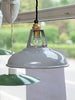 Rare 1930's Original Coolicon Grey Enamel Industrial Lights - Decorative Antiques UK  - 1