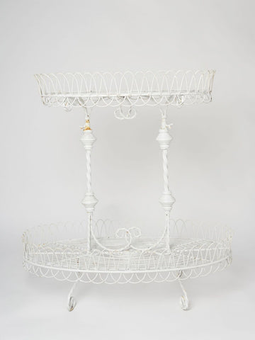 Antique French Wired two tiered Etagere Planter