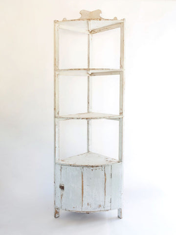 Beautiful Antique French Etagere with old paint