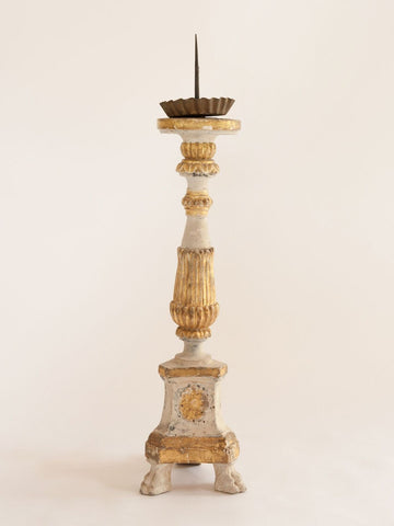 Antique 19th Century Italian Church Pricket Candlestick