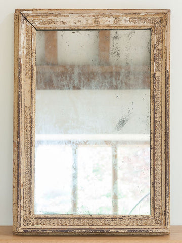 Small Antique French Mercury Glass Mirror