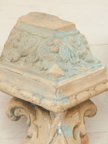 Pair Antique French Terracotta Corbel Fragments - Decorative Antiques UK  - 1