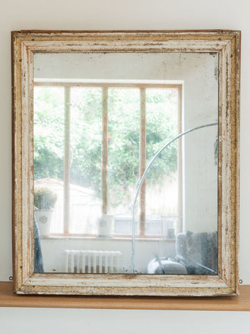 Antique 19th Century French Mercury Glass Mirror