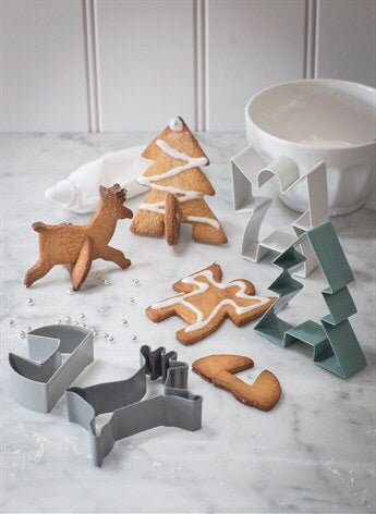 Garden Trading Christmas Cookie Cutters in Chalk and Charcoal