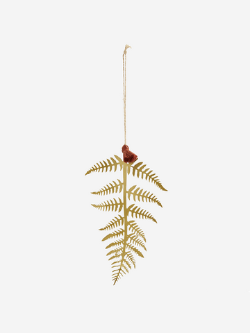 Metal fern leaf decoration