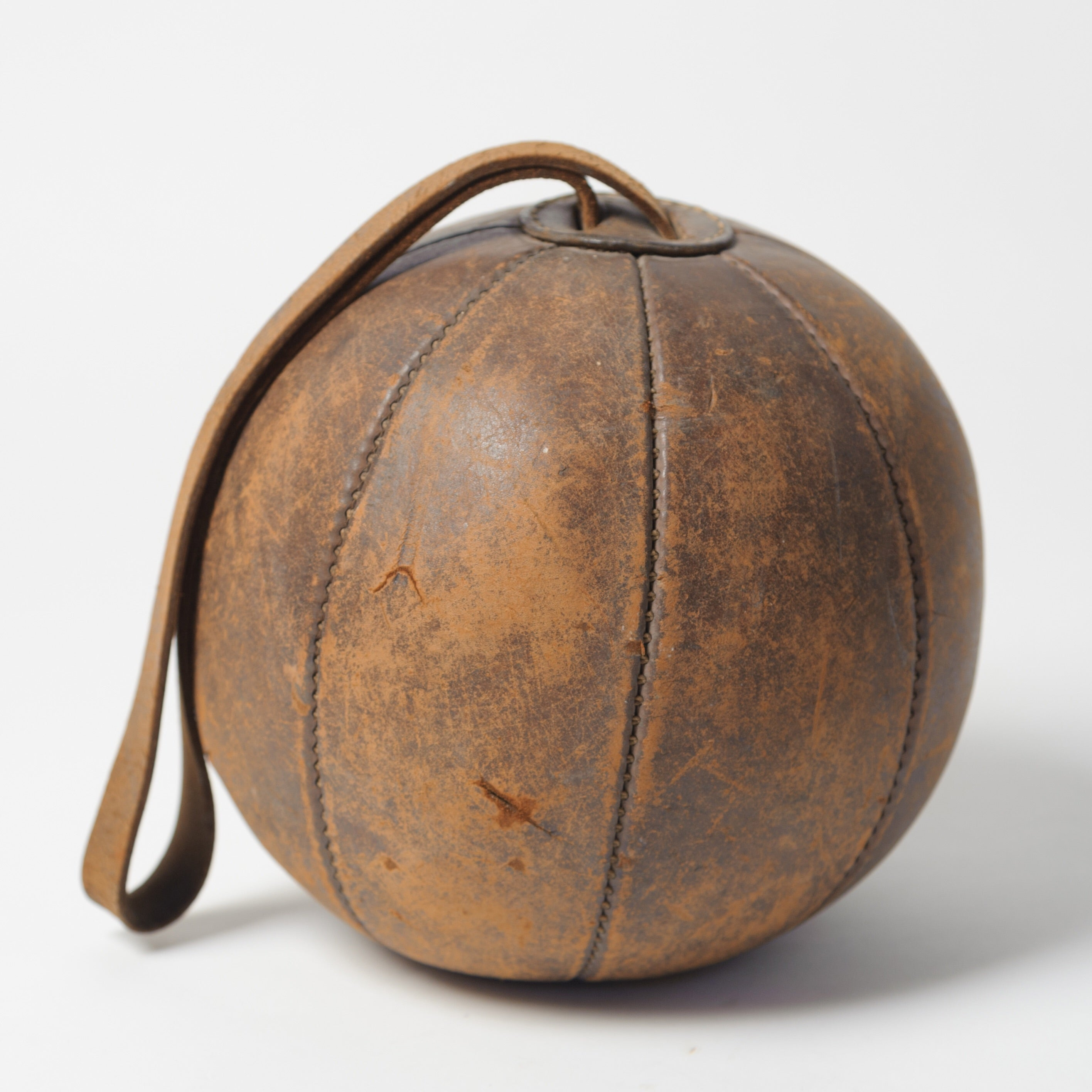 Vintage French Leather Boxing Ball circa 1920's – Decorative Antiques UK