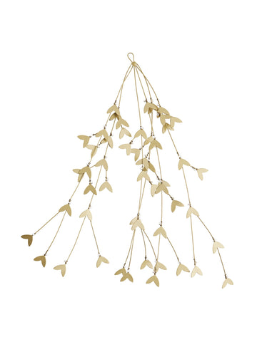 Gold iron mistletoe decoration