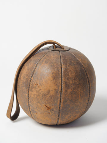 Vintage French Leather Boxing Ball circa 1920's