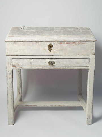 Antique 19th Century Swedish Pine Writing Desk, original paint