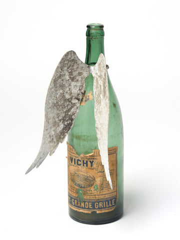 Aged Angel Wings Bottle decoration