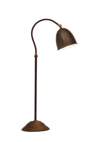 Frezoli desk lamp with copper shade