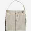 Cotton striped apron with fringes