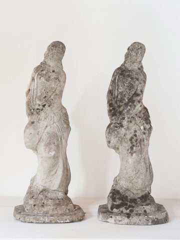 Beautiful Matching pair Vintage Lady Statues - Decorative Antiques UK  - 1