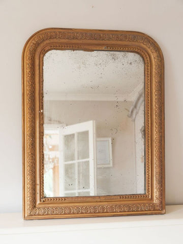 Small Antique French Gilt Louis Phillippe Mirror - Decorative Antiques UK  - 1