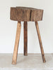 Rare Antique French Chopping Block - Decorative Antiques UK  - 1