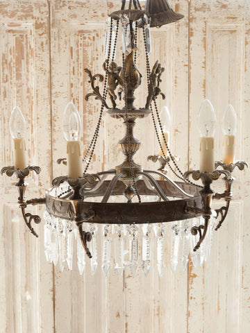 Beautiful Italian Cherub Chandelier, circa 1920's