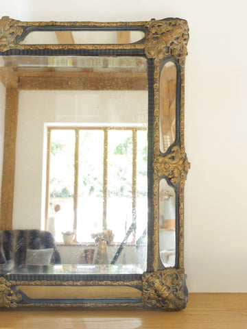 Antique 19th Century French Cushion Mirror