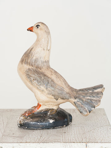Vintage French Painted Stone Dove - Decorative Antiques UK  - 1