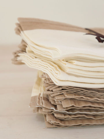 Vintage French Cotton Table Napkins