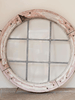 Antique French Round Wooden Window with original paint, lead and glass - Decorative Antiques UK  - 1