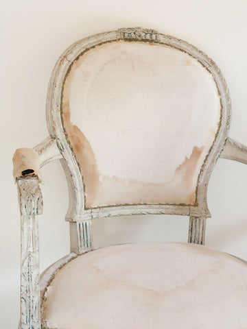Pair Beautiful Antique French Louis XVI Chairs
