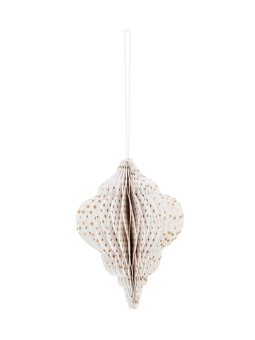 Paper Honeycomb tree decoration with gold dots
