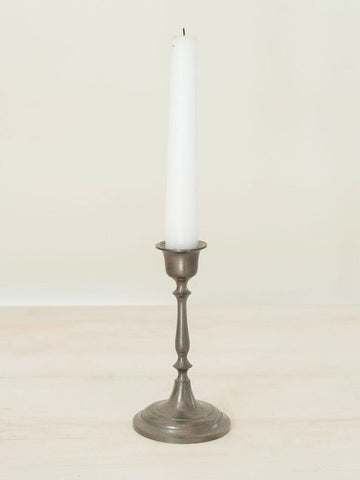 Small Vintage Dutch Pewter Candlestick